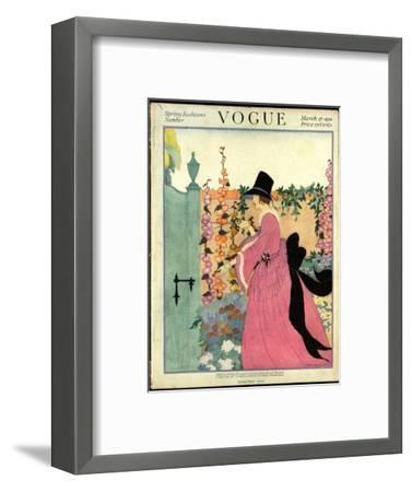 Vogue Cover - March 1918-Helen Dryden-Framed Premium Giclee Print