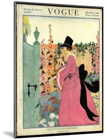 Vogue Cover - March 1918-Helen Dryden-Mounted Premium Giclee Print