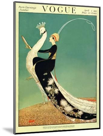 Vogue Cover - April 1918 - Peacock Parade-George Wolfe Plank-Mounted Premium Giclee Print