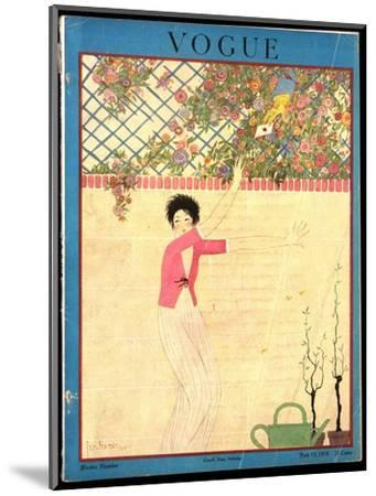 Vogue Cover - July 1918-Georges Lepape-Mounted Premium Giclee Print