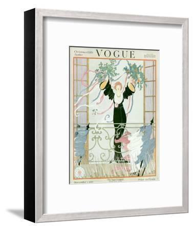 Vogue Cover - December 1918-Helen Dryden-Framed Premium Giclee Print
