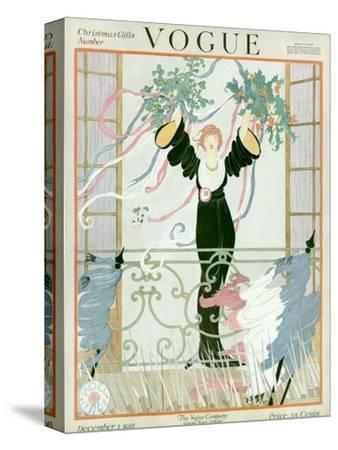 Vogue Cover - December 1918-Helen Dryden-Stretched Canvas Print