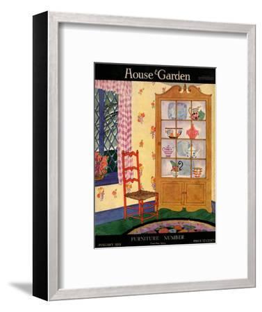 House & Garden Cover - January 1919-Helen Dryden-Framed Premium Giclee Print