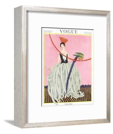 Vogue Cover - May 1922-George Wolfe Plank-Framed Premium Giclee Print