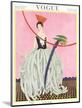 Vogue Cover - May 1922-George Wolfe Plank-Mounted Premium Giclee Print
