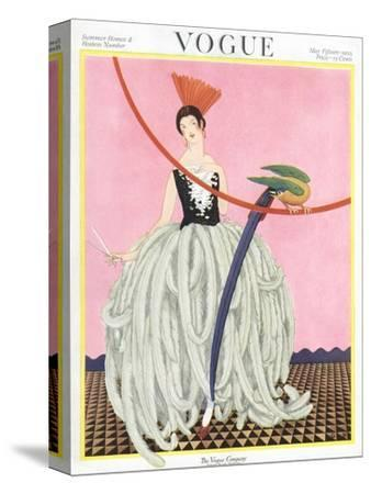 Vogue Cover - May 1922-George Wolfe Plank-Stretched Canvas Print