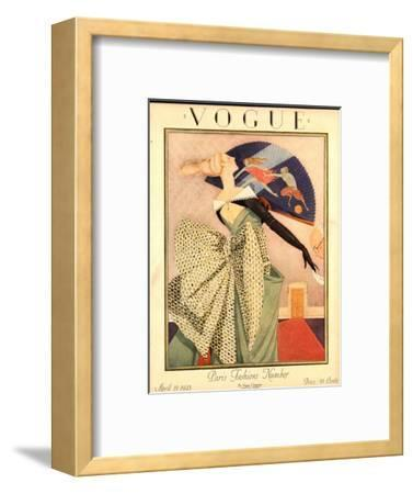 Vogue Cover - April 1923-George Wolfe Plank-Framed Premium Giclee Print