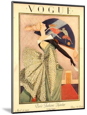 Vogue Cover - April 1923-George Wolfe Plank-Mounted Premium Giclee Print