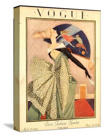 Vogue Cover - April 1923-George Wolfe Plank-Stretched Canvas Print
