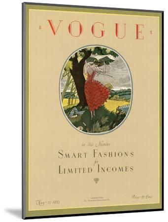 Vogue Cover - May 1923-Leslie Saalburg-Mounted Premium Giclee Print