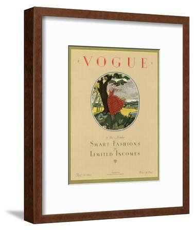Vogue Cover - May 1923-Leslie Saalburg-Framed Premium Giclee Print