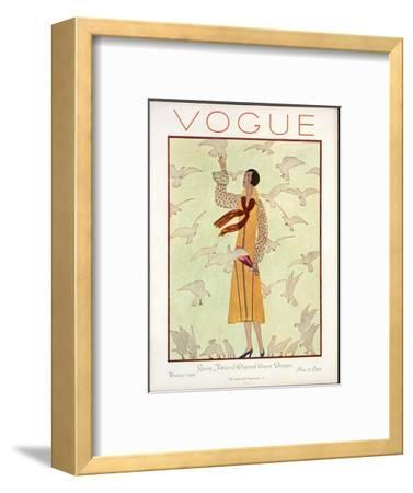 Vogue Cover - February 1926-Andr? E. Marty-Framed Premium Giclee Print
