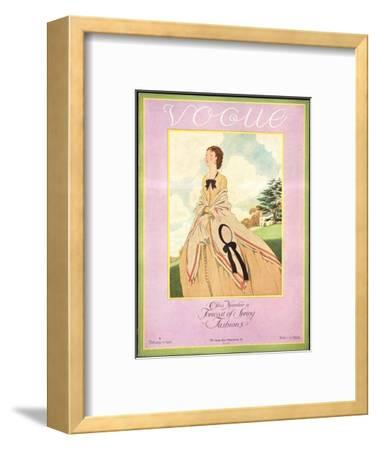 Vogue Cover - February 1926-Pierre Brissaud-Framed Premium Giclee Print