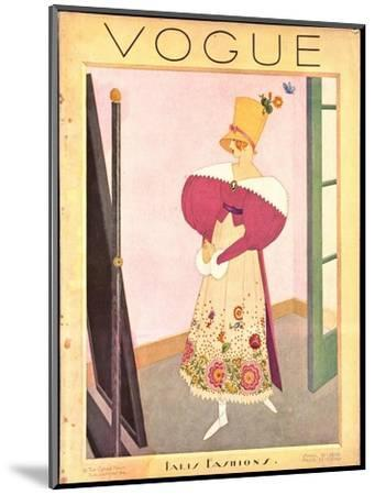 Vogue Cover - April 1926-George Wolfe Plank-Mounted Premium Giclee Print