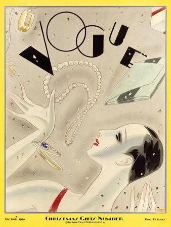 Vogue Cover - December 1926-William Bolin-Framed Premium Giclee Print