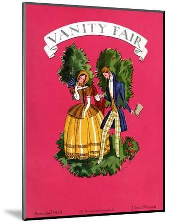 Vanity Fair Cover - September 1928-Eduardo Garcia Benito-Mounted Premium Giclee Print