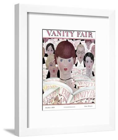 Vanity Fair Cover - October 1928-Georges Lepape-Framed Premium Giclee Print