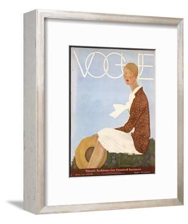 Vogue Cover - May 1929-Georges Lepape-Framed Premium Giclee Print