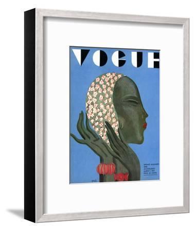 Vogue Cover - March 1931-Eduardo Garcia Benito-Framed Premium Giclee Print