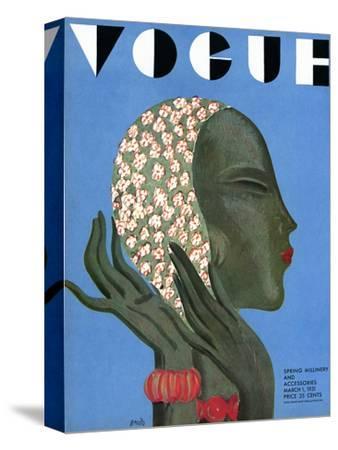 Vogue Cover - March 1931-Eduardo Garcia Benito-Stretched Canvas Print