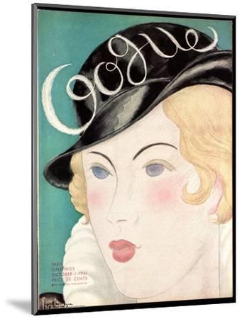 Vogue Cover - October 1931-Georges Lepape-Mounted Premium Giclee Print
