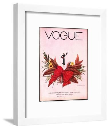 Vogue Cover - August 1932-Georges Lepape-Framed Premium Giclee Print