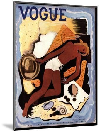 Vogue Cover - June 1933-Georges Lepape-Mounted Premium Giclee Print