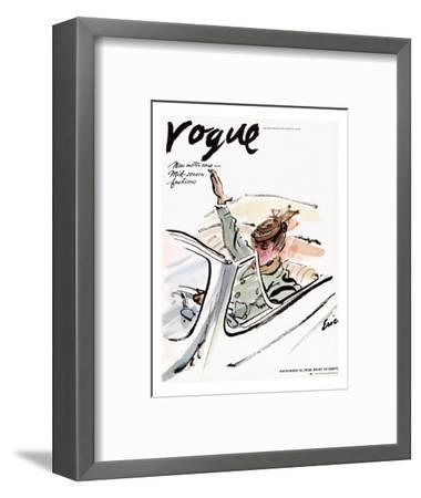 "Vogue Cover - November 1938-Carl ""Eric"" Erickson-Framed Premium Giclee Print"