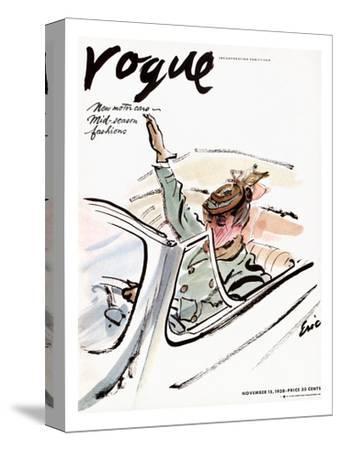 "Vogue Cover - November 1938-Carl ""Eric"" Erickson-Stretched Canvas Print"