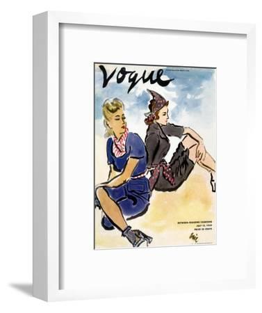 "Vogue Cover - July 1939-Carl ""Eric"" Erickson-Framed Premium Giclee Print"