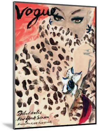 "Vogue Cover - November 1939 - Leopard Love-Carl ""Eric"" Erickson-Mounted Premium Giclee Print"