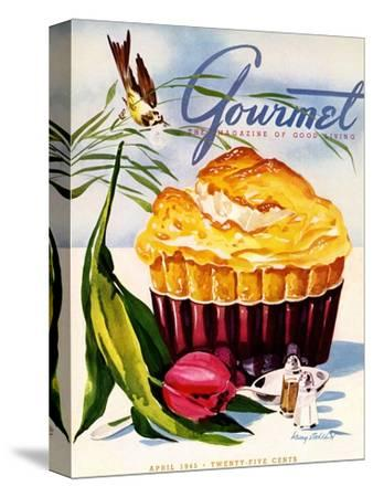 Gourmet Cover - April 1945-Henry Stahlhut-Stretched Canvas Print