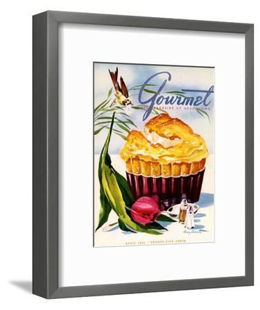 Gourmet Cover - April 1945-Henry Stahlhut-Framed Premium Giclee Print
