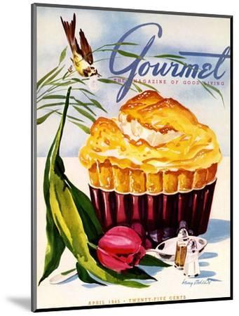 Gourmet Cover - April 1945-Henry Stahlhut-Mounted Premium Giclee Print