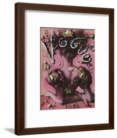 Vogue Cover - April 1945-Eugene Berman-Framed Premium Giclee Print