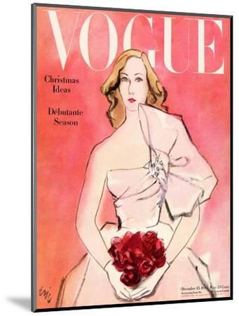 "Vogue Cover - December 1945-Carl ""Eric"" Erickson-Mounted Premium Giclee Print"