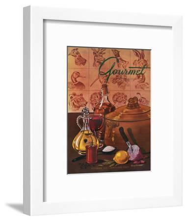 Gourmet Cover - November 1948-Henry Stahlhut-Framed Premium Giclee Print