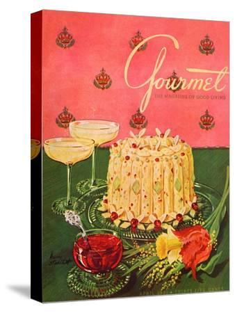 Gourmet Cover - April 1951-Henry Stahlhut-Stretched Canvas Print