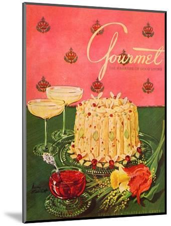 Gourmet Cover - April 1951-Henry Stahlhut-Mounted Premium Giclee Print
