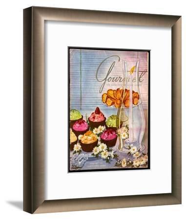 Gourmet Cover - August 1951-Henry Stahlhut-Framed Premium Giclee Print