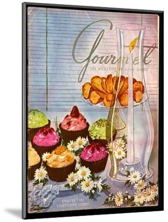 Gourmet Cover - August 1951-Henry Stahlhut-Mounted Premium Giclee Print