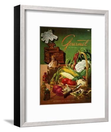 Gourmet Cover - September 1952-Henry Stahlhut-Framed Premium Giclee Print