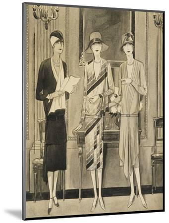Vogue - June 1928-William Bolin-Mounted Premium Giclee Print