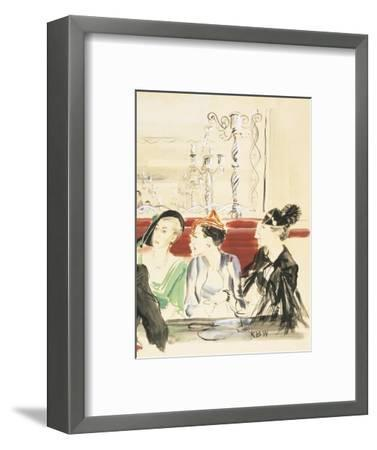 Vogue - September 1934-Ren? Bou?t-Willaumez-Framed Premium Giclee Print