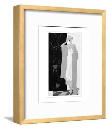 Vogue - November 1934-Eduardo Garcia Benito-Framed Premium Giclee Print