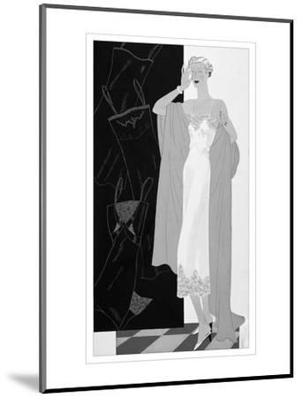 Vogue - November 1934-Eduardo Garcia Benito-Mounted Premium Giclee Print