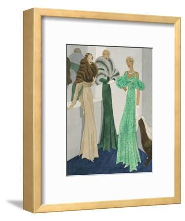 Vogue - November 1932-Eduardo Garcia Benito-Framed Premium Giclee Print