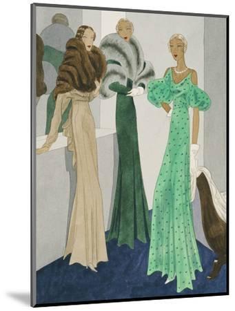 Vogue - November 1932-Eduardo Garcia Benito-Mounted Premium Giclee Print