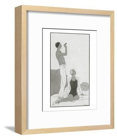 Vogue - January 1930-Polly Tigue Francis-Framed Premium Giclee Print
