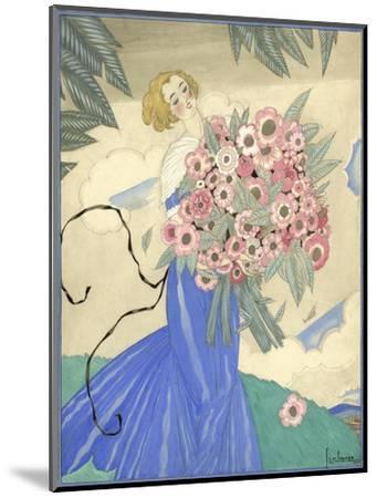 Vogue - June 1923-Georges Lepape-Mounted Premium Giclee Print